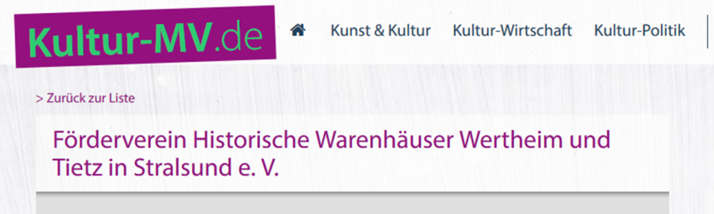 Förderverein auf Kultur-MV.de