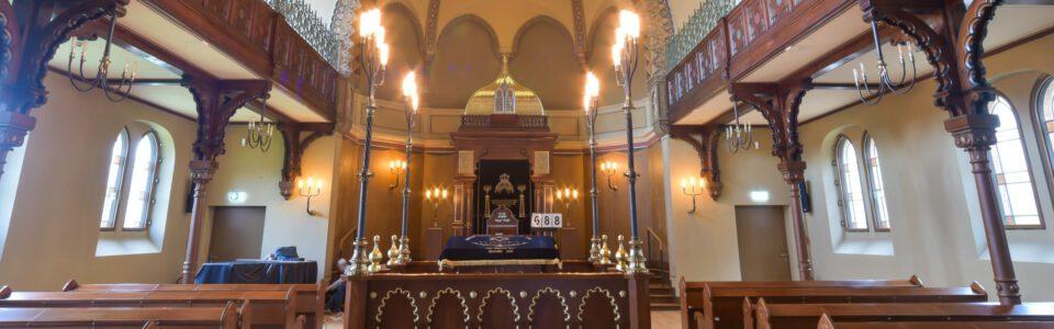 Dauerausstellung in der Carlebach-Synagoge in Lübeck